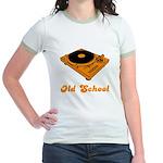 Old School Turntable Jr. Ringer T-Shirt