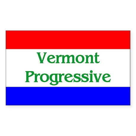 Vermont Progressive Rectangle Sticker