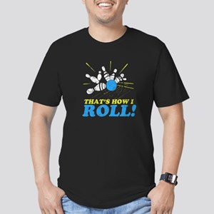 How I Roll Men's Fitted T-Shirt (dark)