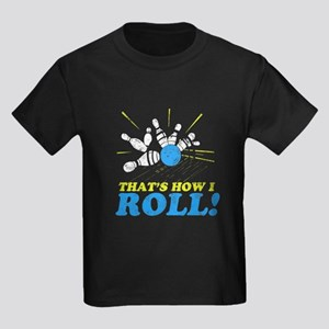 How I Roll Kids Dark T-Shirt