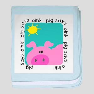 Pig Says Oink baby blanket