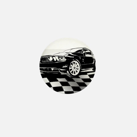 2011 Mustang Flag Mini Button