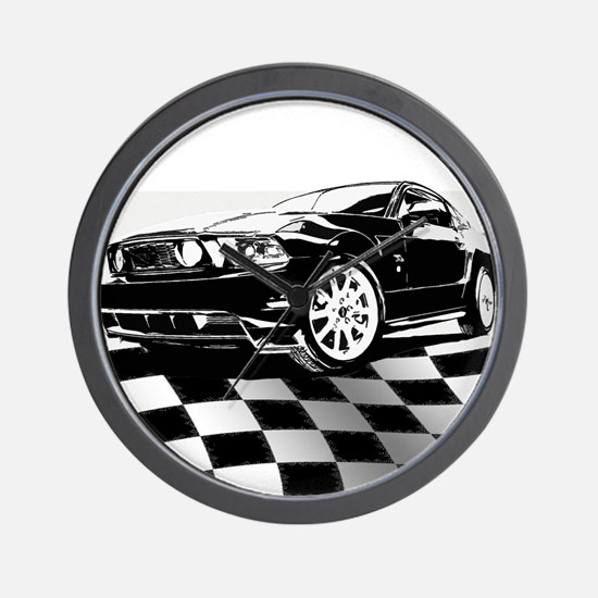 2011 Mustang Flag Wall Clock