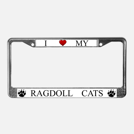 White I Love My Ragdoll Cats Frame