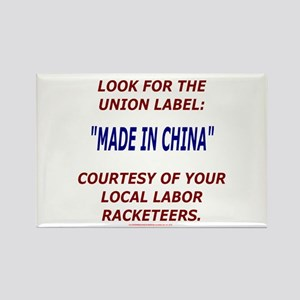 Look for the Union Label Rectangle Magnet