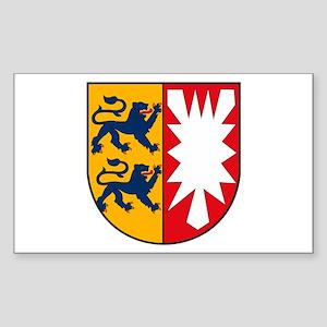Schleswig Holstein Coat of Ar Sticker (Rectangular