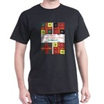 Flags of the Irish Brig. of France-Black T-Shirt