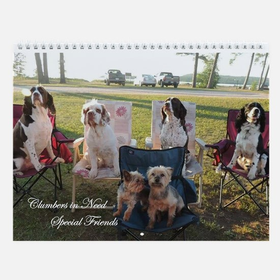 Clumber Spaniel And Friends Wall Calendar