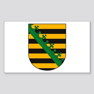 Saxony Coat of Arms Rectangle Sticker
