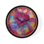 Silk Mandala #2 - Wall Clock