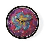 Silk Mandala #1 - Wall Clock