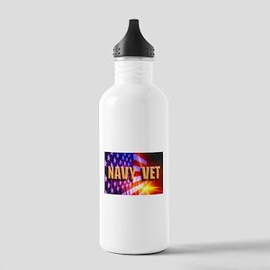 Navy Vet bur Stainless Water Bottle 1.0L