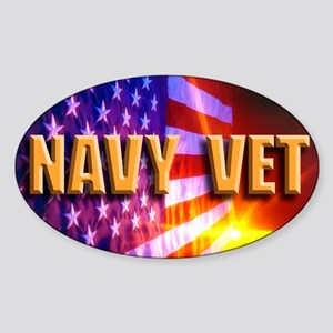 Navy Vet bur Sticker (Oval)