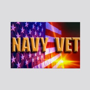 Navy Vet bur Rectangle Magnet