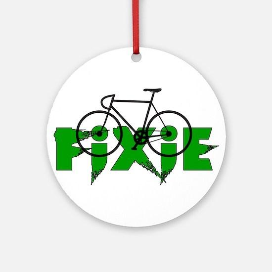 Fixie Ornament (Round)
