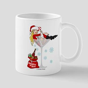 Santa Girl Martini Mug