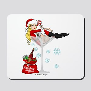 Santa Girl Martini Mousepad