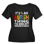 Autism Thing Women's Plus Size Scoop Neck Dark T-S