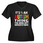 Autism Thing Women's Plus Size V-Neck Dark T-Shirt