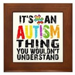 Autism Thing Framed Tile