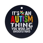 Autism Thing Ornament (Round)