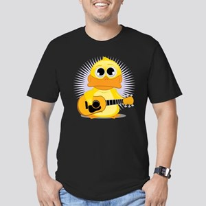 Acoustic Guitar Duck Men's Fitted T-Shirt (dark)