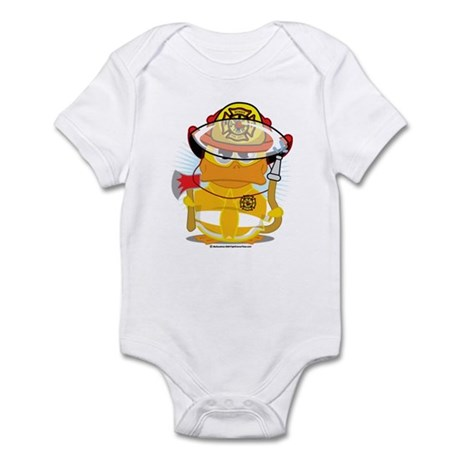 Firefighter Duck Infant Bodysuit