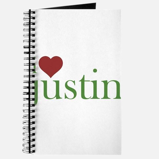 I Heart Justin Journal