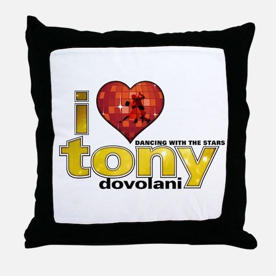 I Heart Tony Dovolani Throw Pillow