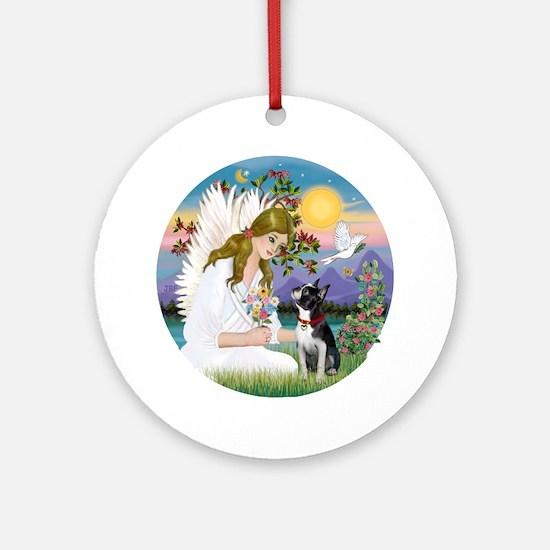 Angel Love / Boston T 3 Ornament (Round)
