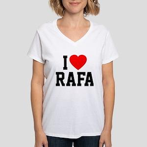I Love Rafa Women's V-Neck T-Shirt