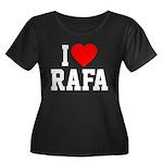 I Love Rafa Women's Plus Size Scoop Neck Dark T-Sh