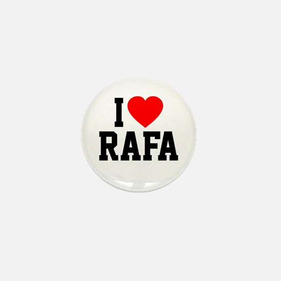 I Love Rafa Mini Button