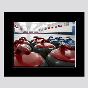 Curling Club Stones 16x20 Poster