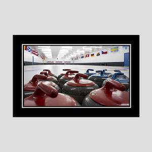 Curling Club Stones Mini Poster Print