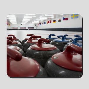Curling Club Stones Mousepad