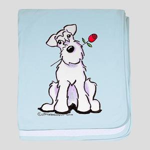 Schnauzer Sweetheart baby blanket