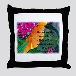 Peacemaker Butterfly Throw Pillow