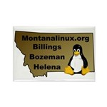 Rectangle Magnet (10 pack) Montanalinux.org