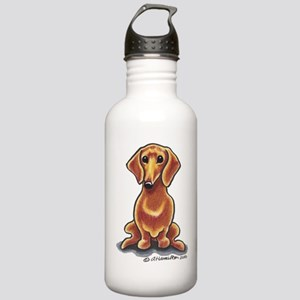 Smooth Red Dachshund Stainless Water Bottle 1.0L