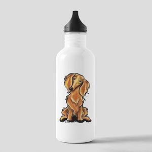 Longhair Dachshund Lover Stainless Water Bottle 1.