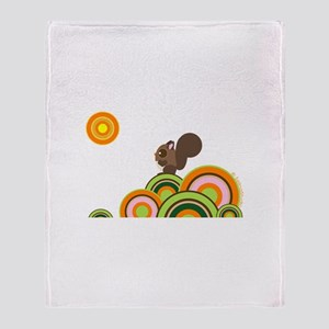 """Woodland Squirrel"" Throw Blanket"