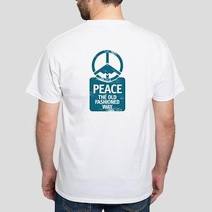 B-2 Bomber Peace White T-Shirt