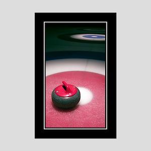 Curling Stone Mini Poster Print