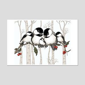 Chickadee Family Mini Poster Print