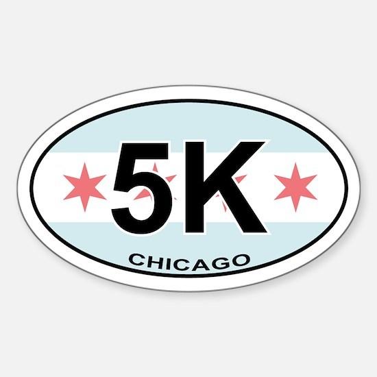 5K Chicago Sticker (Oval)