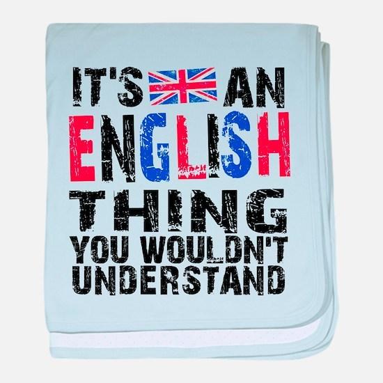 English Thing baby blanket