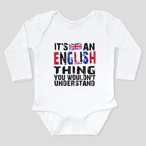 English Thing Long Sleeve Infant Bodysuit