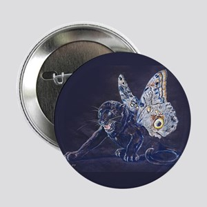 """Black Butterfly Panther 2.25"""" Button"""