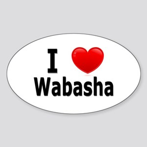 I Love Wabasha Sticker (Oval)
